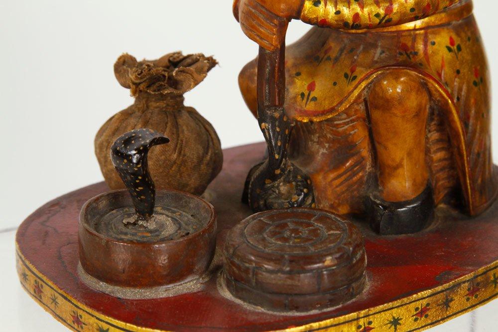 Pr. Indian Figures of Cobra Peddlers - 4