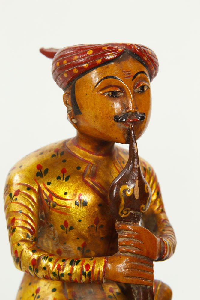 Pr. Indian Figures of Cobra Peddlers - 5