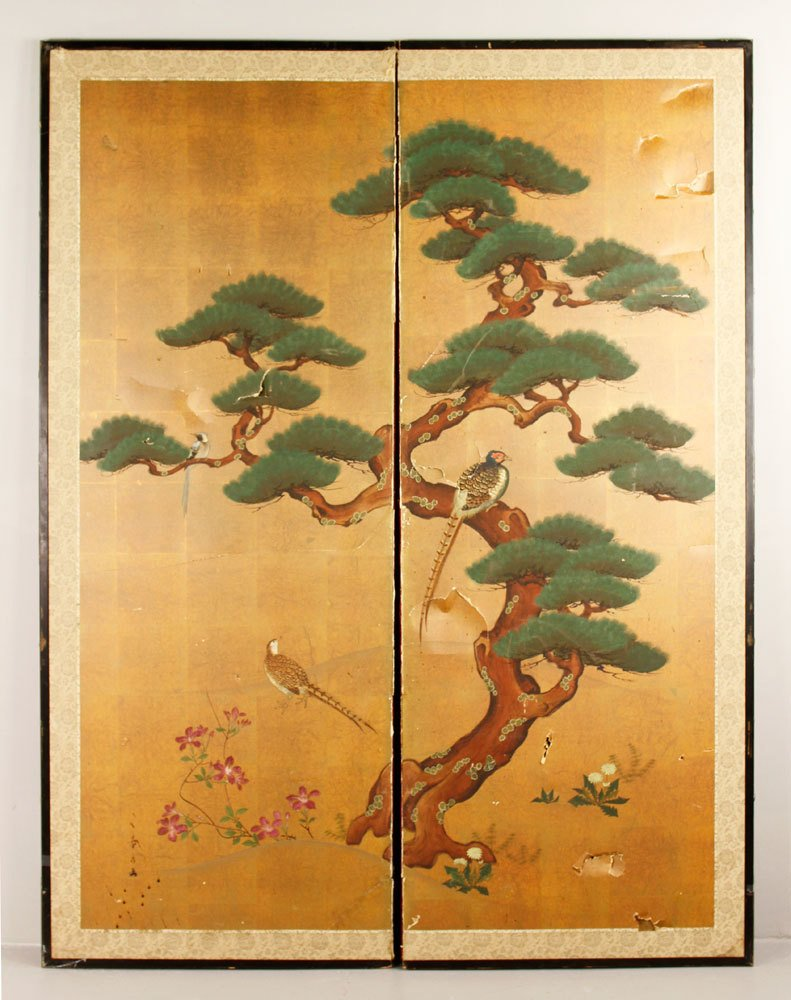 Japanese Paneled Screen