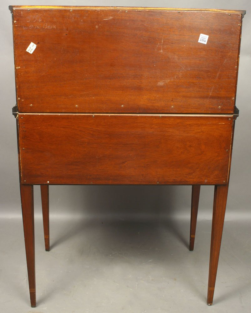 20th C. Mahogany Tambour Desk - 3