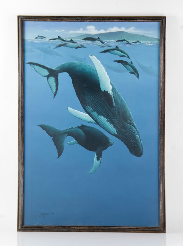 McMichael, Whales, Acrylic on Canvas