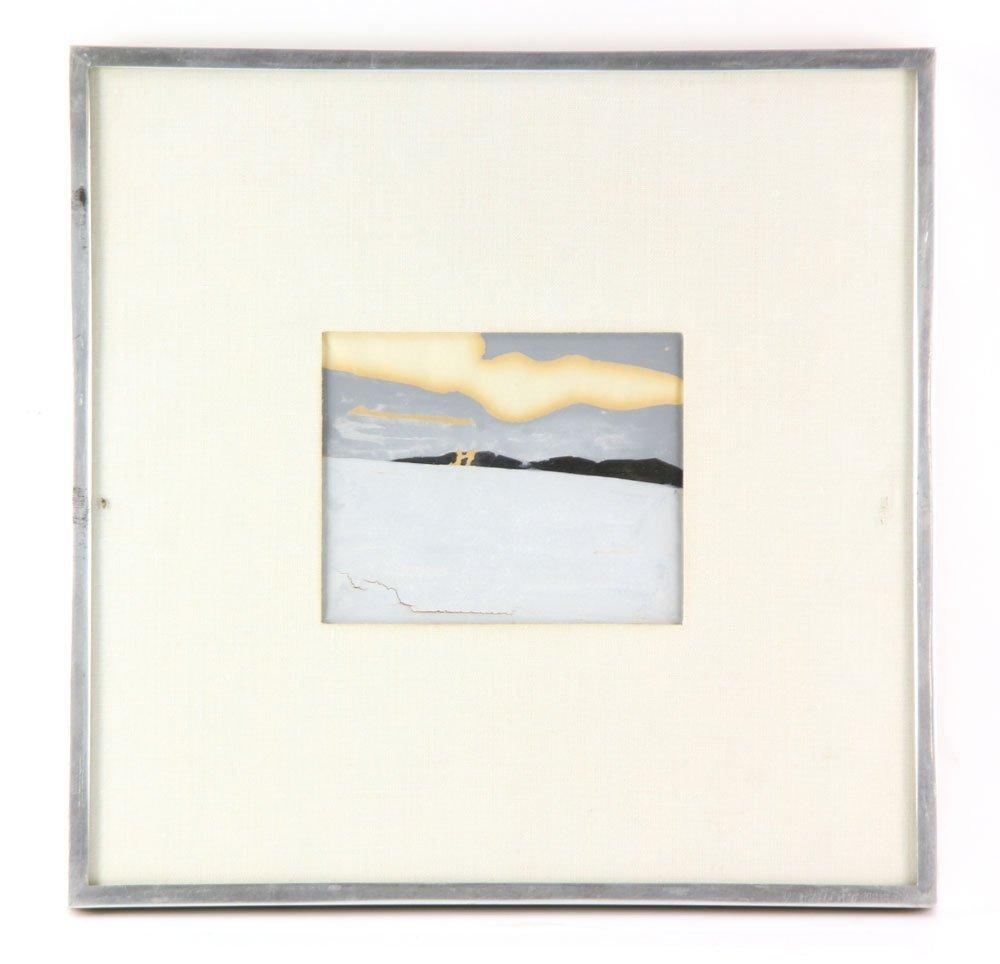 """Katz, """"Landscape,"""" Gouache on Paper"""