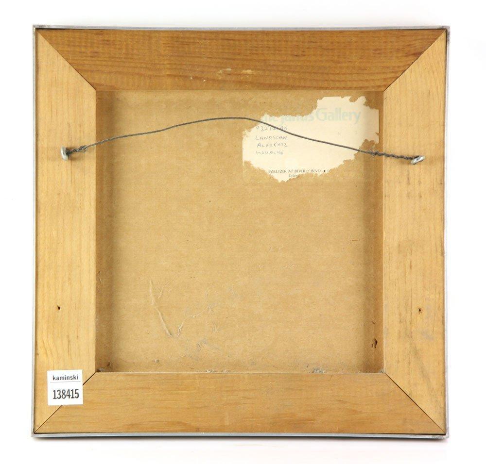 """Katz, """"Landscape,"""" Gouache on Paper - 2"""