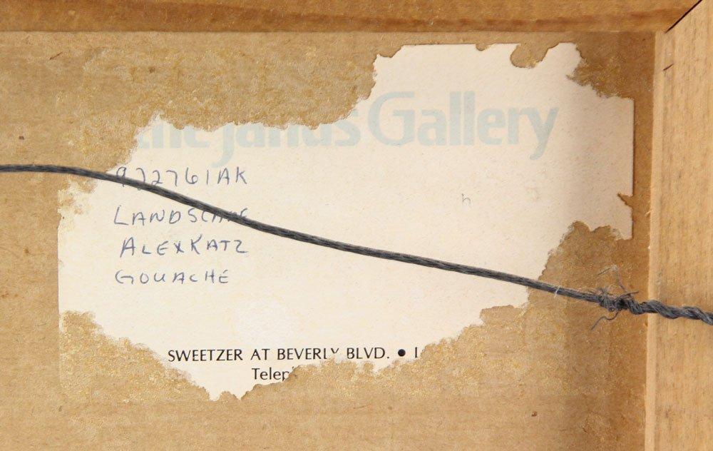 """Katz, """"Landscape,"""" Gouache on Paper - 3"""