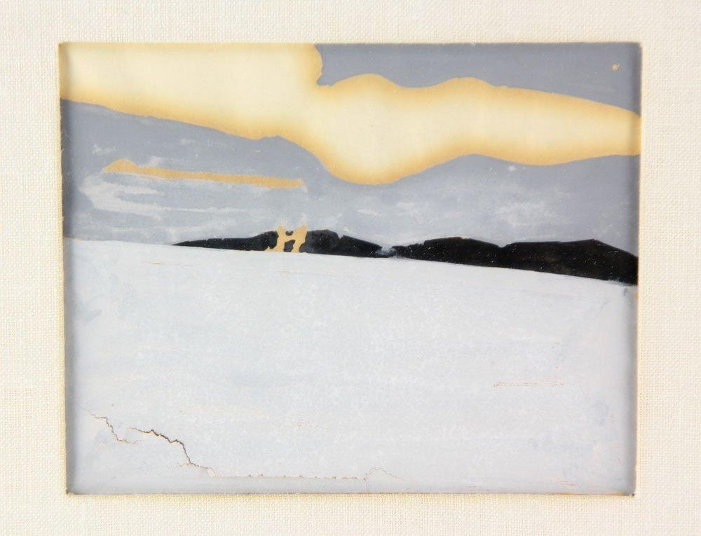 """Katz, """"Landscape,"""" Gouache on Paper - 4"""