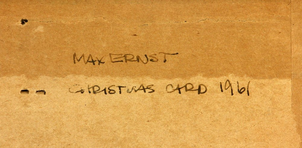"""Ernst, """"Christmas Card 1961,"""" Colored Pencil - 3"""