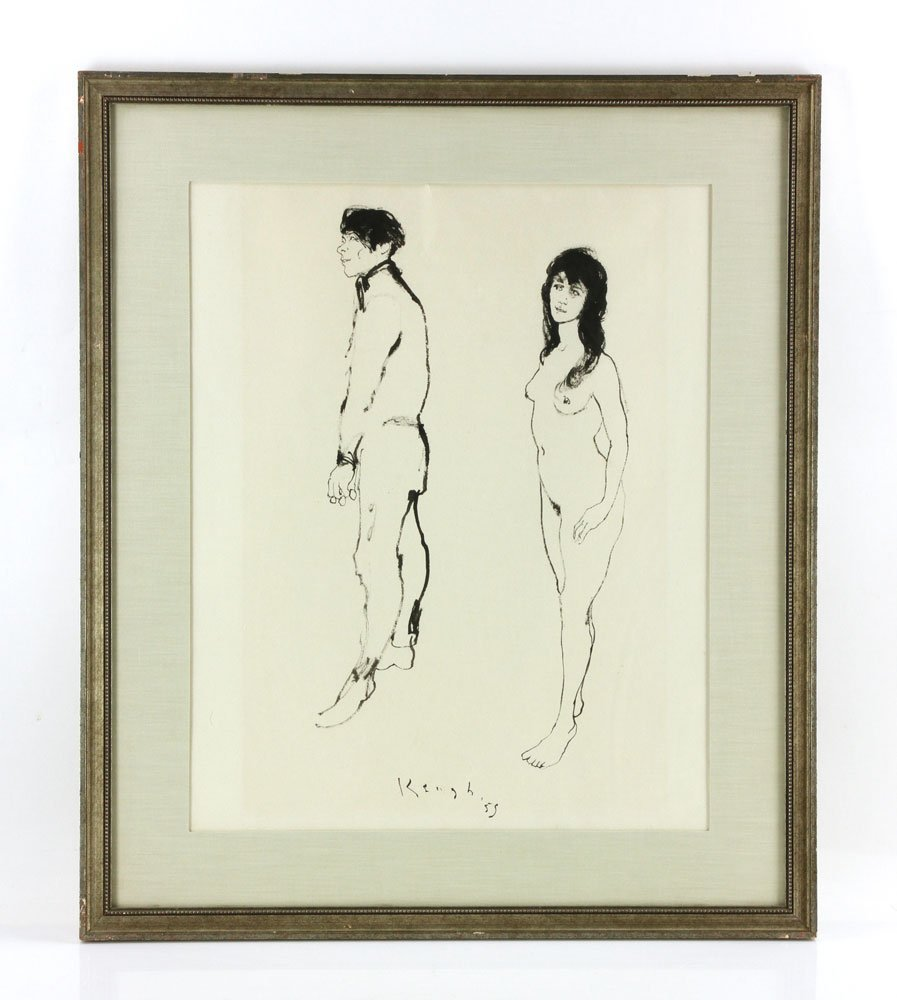 Keogh, Nude Couple, Ink on Paper