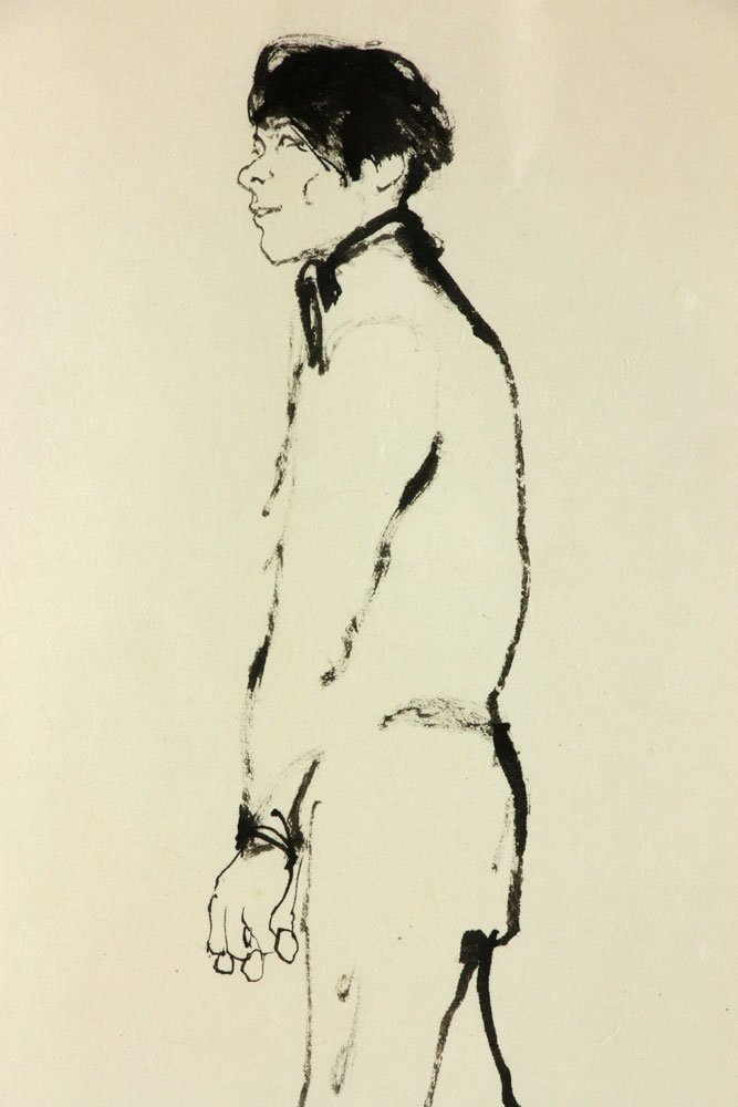 Keogh, Nude Couple, Ink on Paper - 5