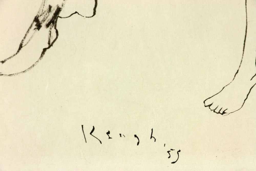 Keogh, Nude Couple, Ink on Paper - 7