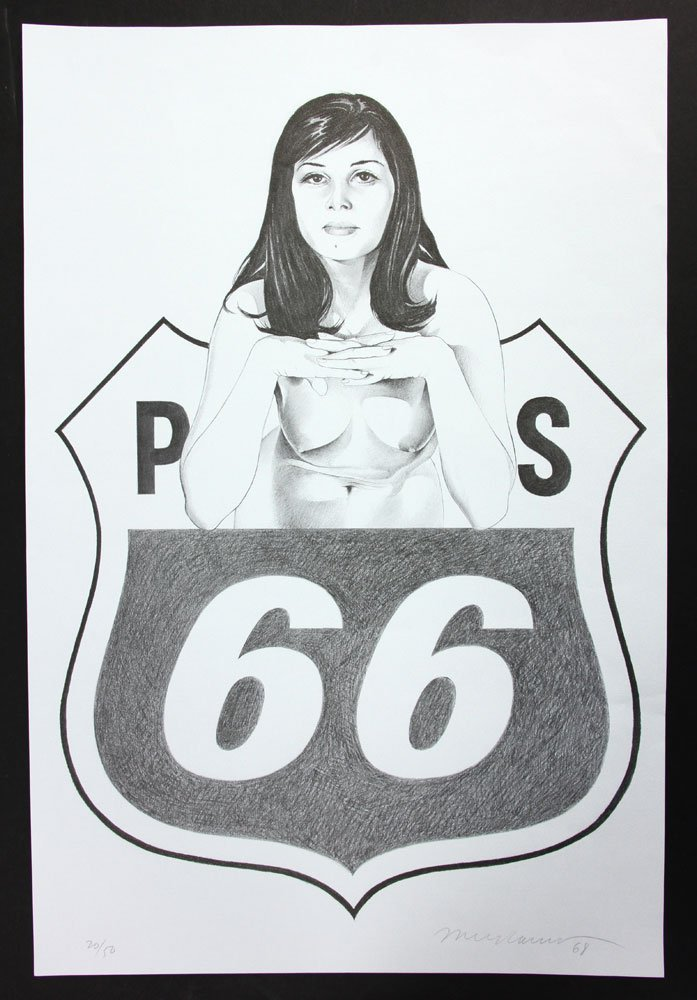 """Ramos, """"Miss Sixty Sixer,"""" Lithograph"""