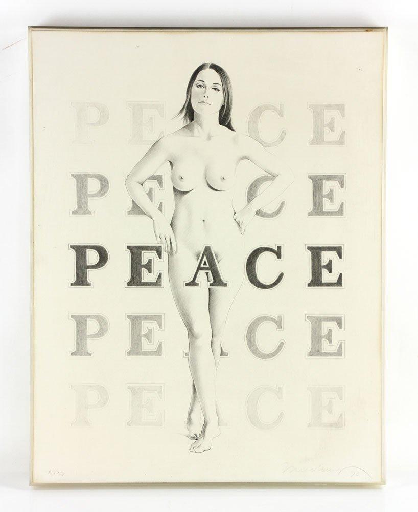 "Ramos, ""Peace,"" Lithograph"