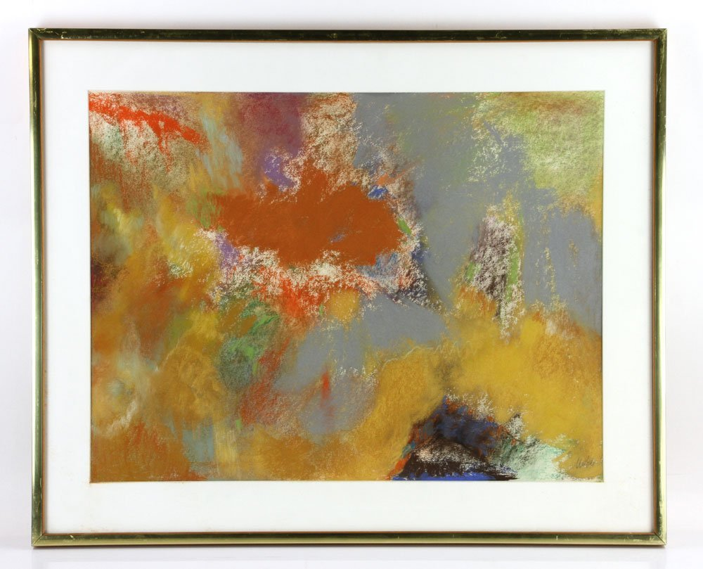 George, Three Abstract Pastels - 2