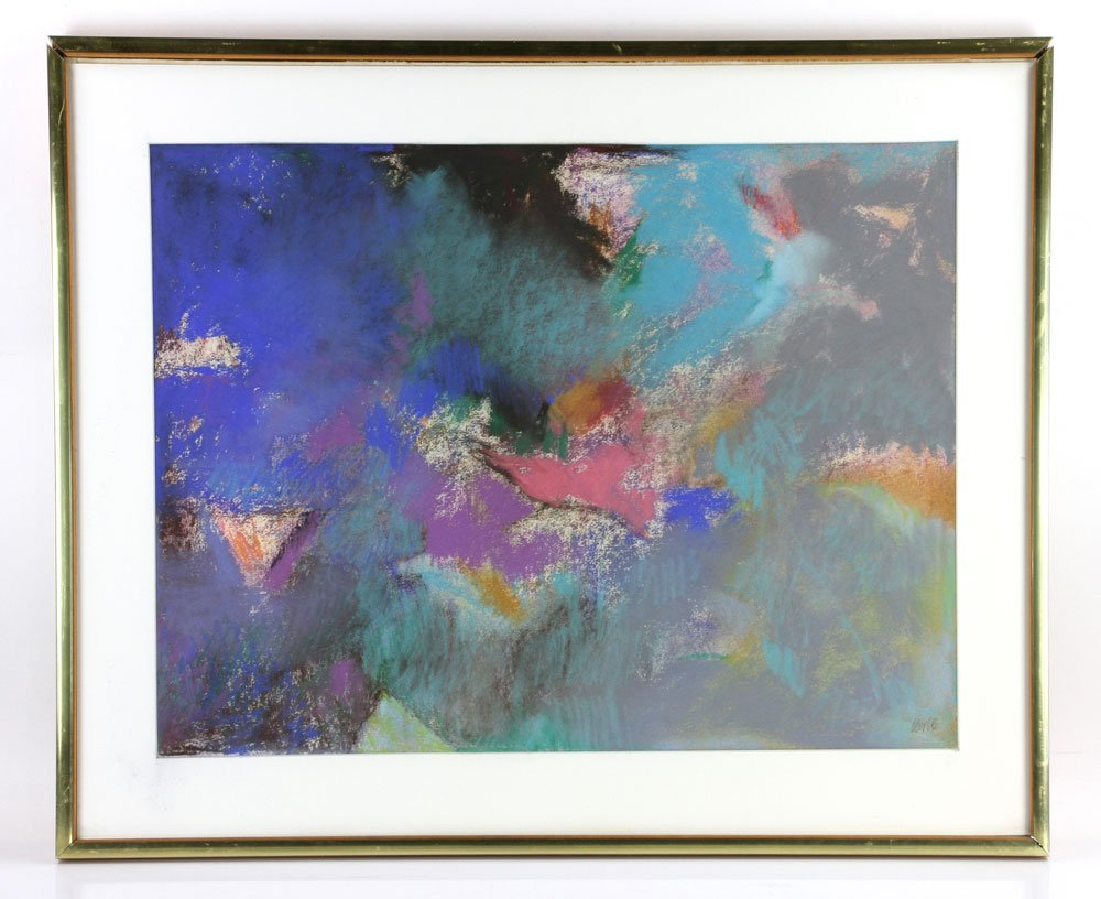 George, Three Abstract Pastels - 3