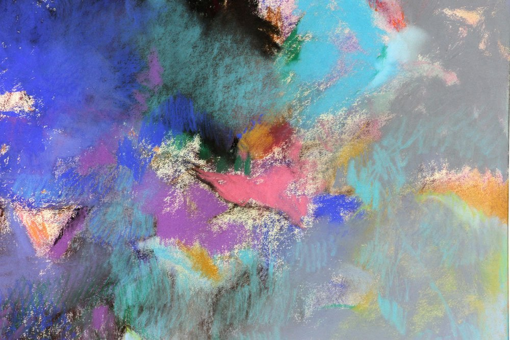 George, Three Abstract Pastels - 6