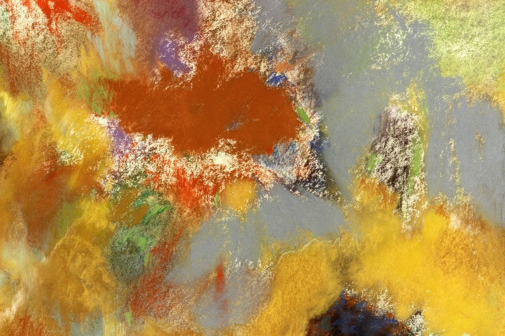 George, Three Abstract Pastels - 7