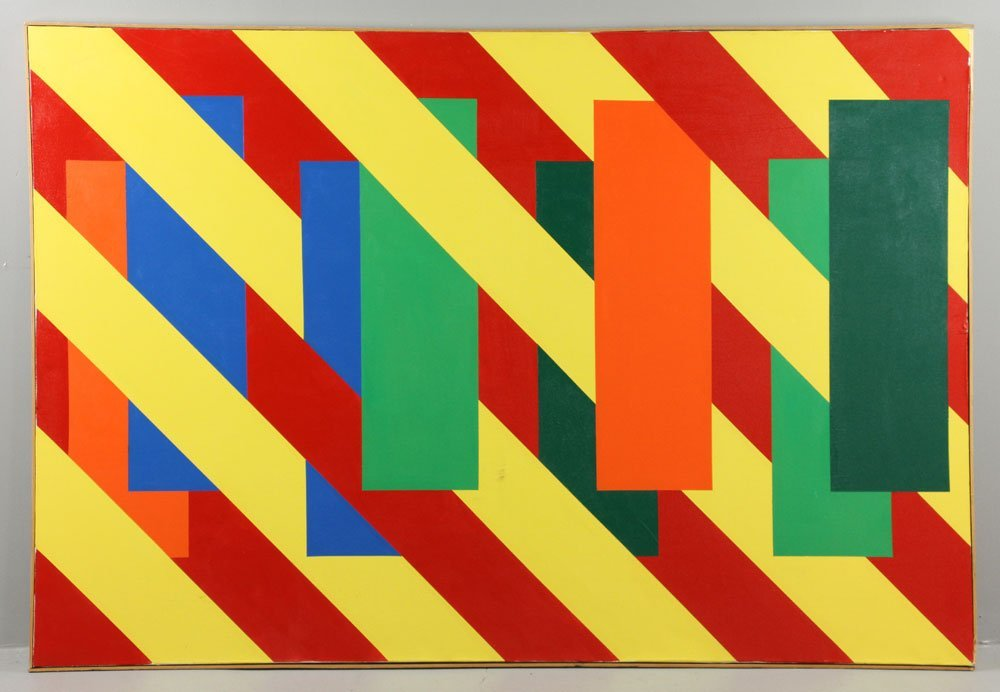 Weinfeld, Modernist Abstract, Oil on Canvas