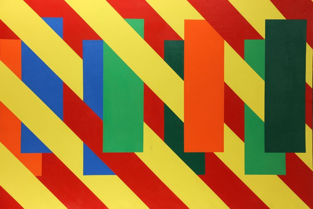 Weinfeld, Modernist Abstract, Oil on Canvas - 4