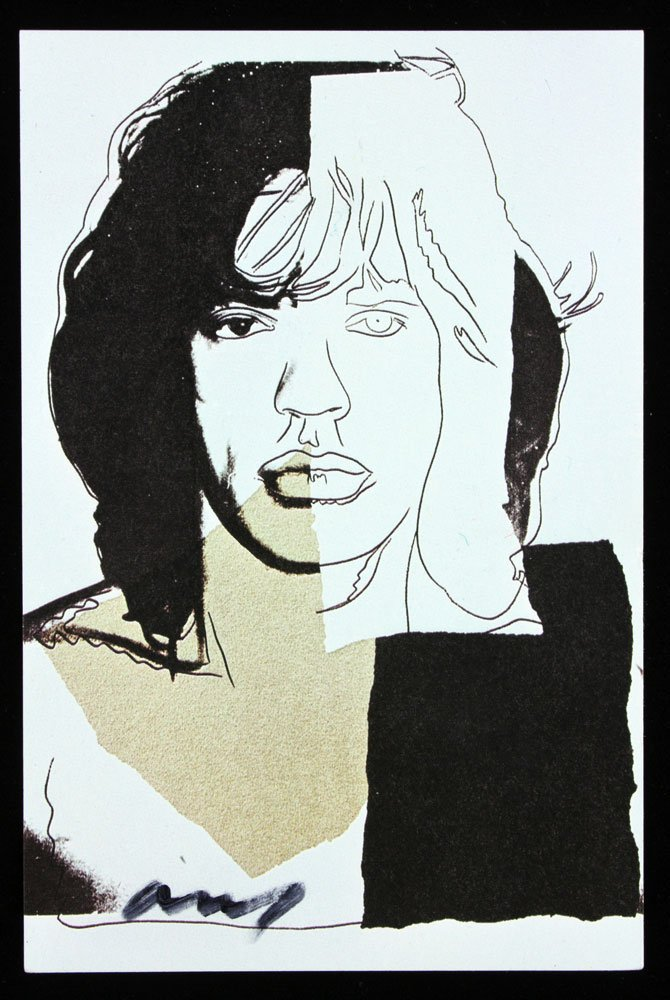 "Four Autographed Warhol ""Mick Jagger"" Announcement - 3"