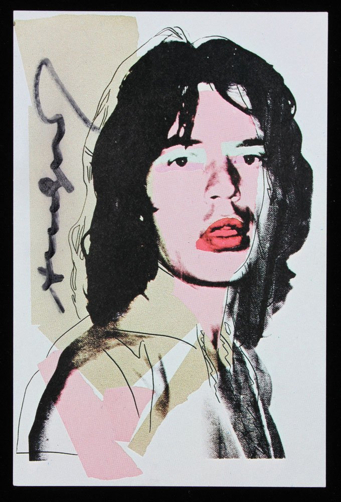 "Four Autographed Warhol ""Mick Jagger"" Announcement - 4"