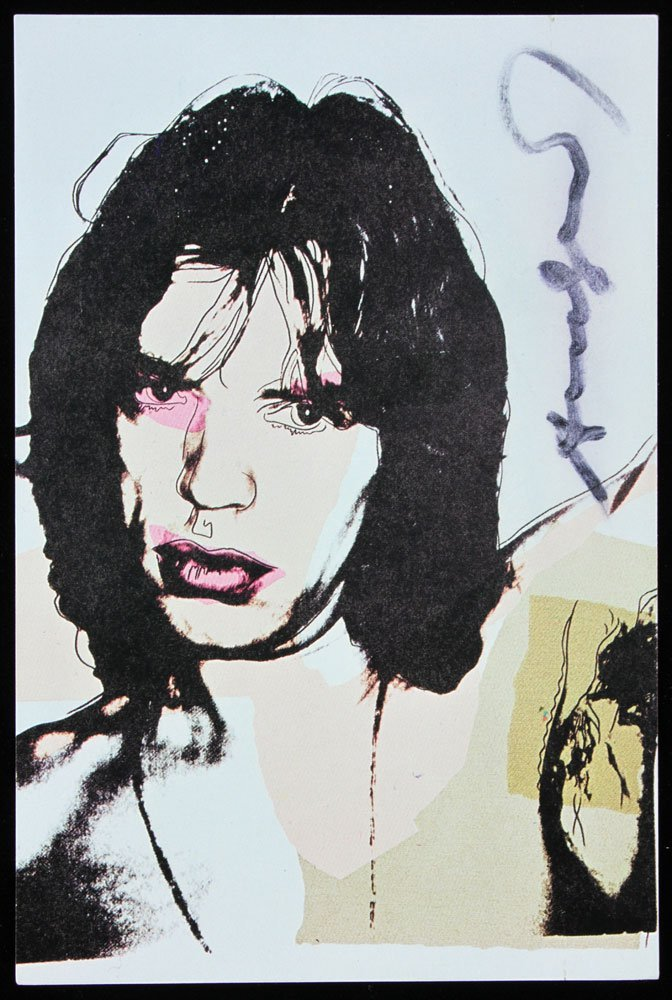 "Four Autographed Warhol ""Mick Jagger"" Announcement - 6"