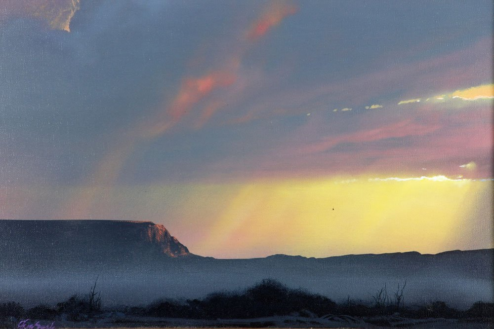 """Mesa Blessed by Light,"" Oil on Canvas - 5"