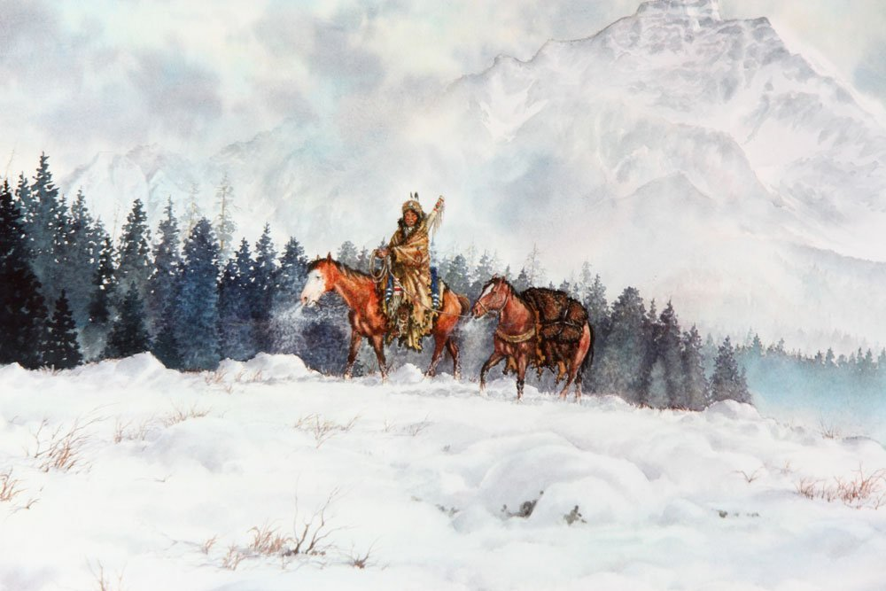 Rider on Horseback, Watercolor - 4