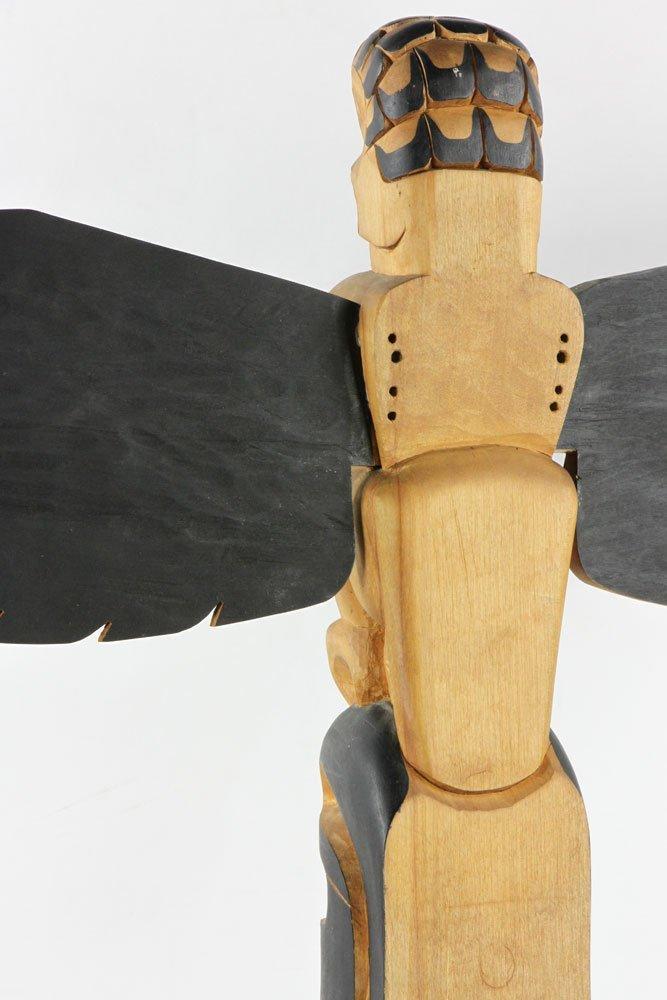 Salish Carved Polychrome Totem Pole - 5