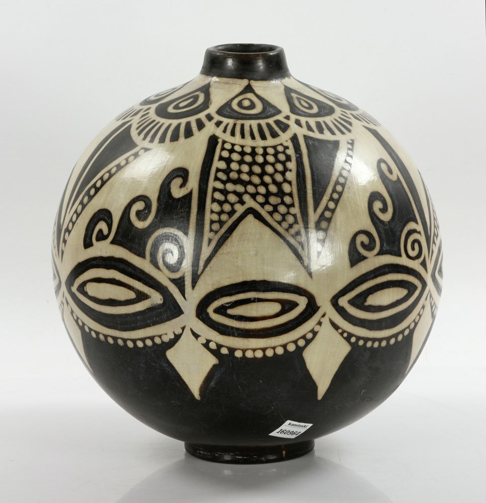 Native American Pottery Vase - 3