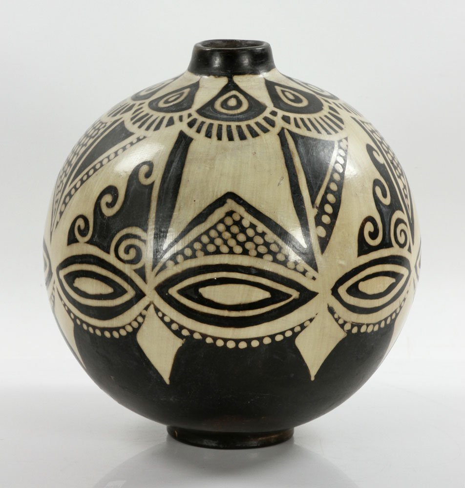 Native American Pottery Vase - 4