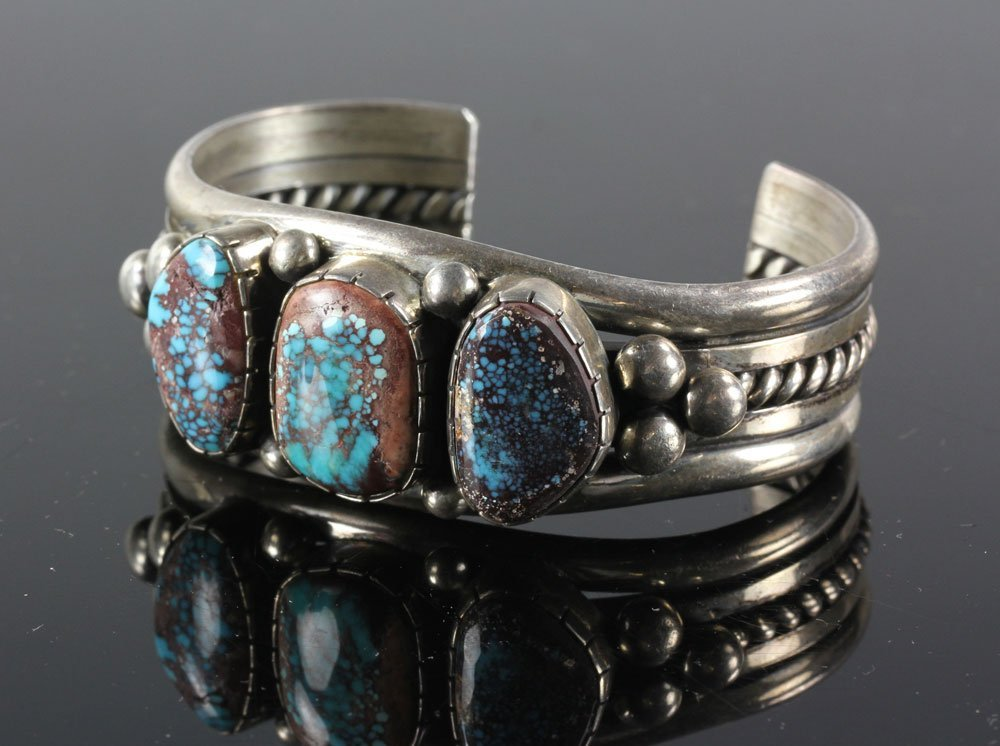 Navajo Sterling and Turquoise Cuff