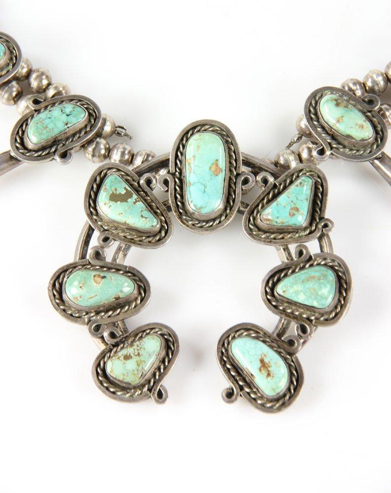 Vintage Navajo Squash Blossom Necklace - 2