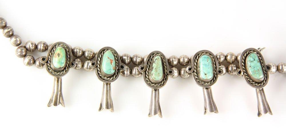 Vintage Navajo Squash Blossom Necklace - 3