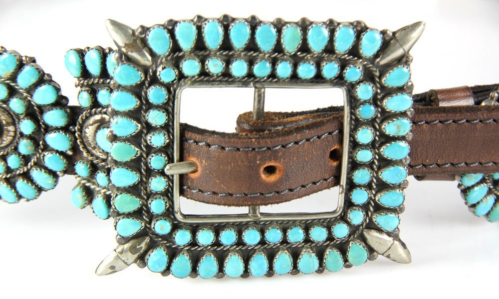 Navajo Sterling and Turquoise Belt - 2