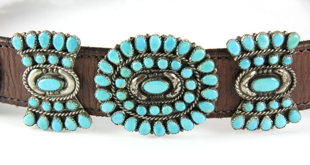 Navajo Sterling and Turquoise Belt - 3