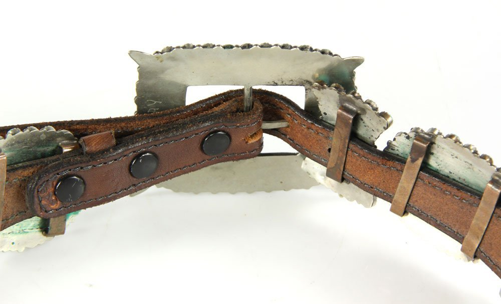 Navajo Sterling and Turquoise Belt - 4