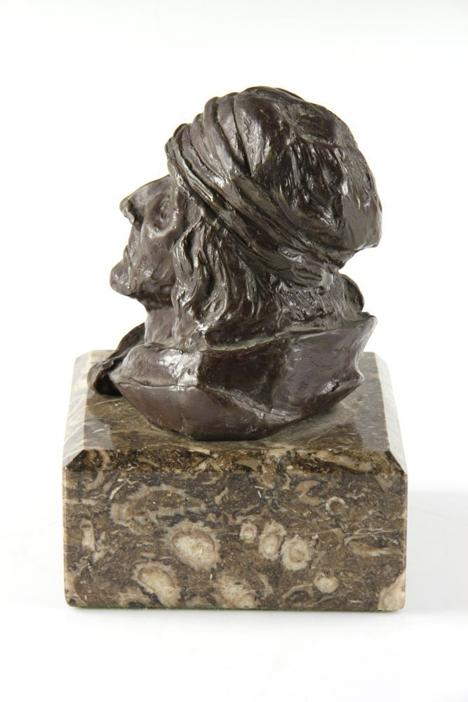Bronze Portrait of Native American Man - 2