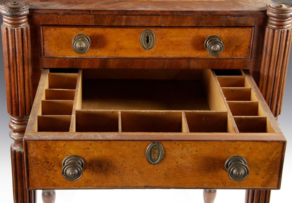 Early New England Sewing Stand - 5