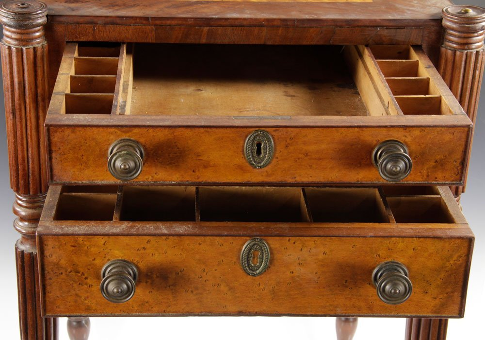 Early New England Sewing Stand - 6