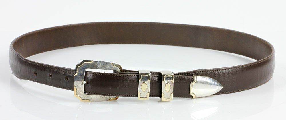 Sterling and 14K Gold Men's Belt