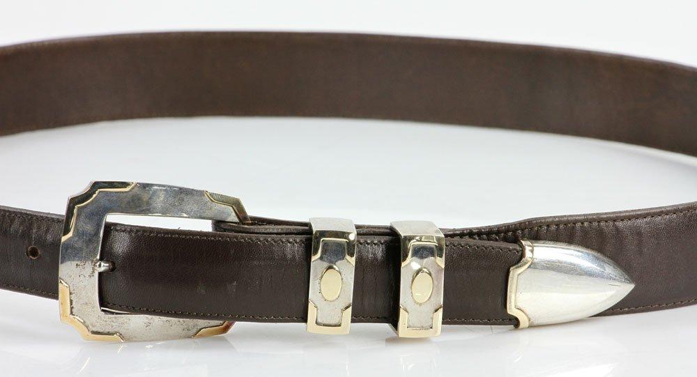 Sterling and 14K Gold Men's Belt - 2
