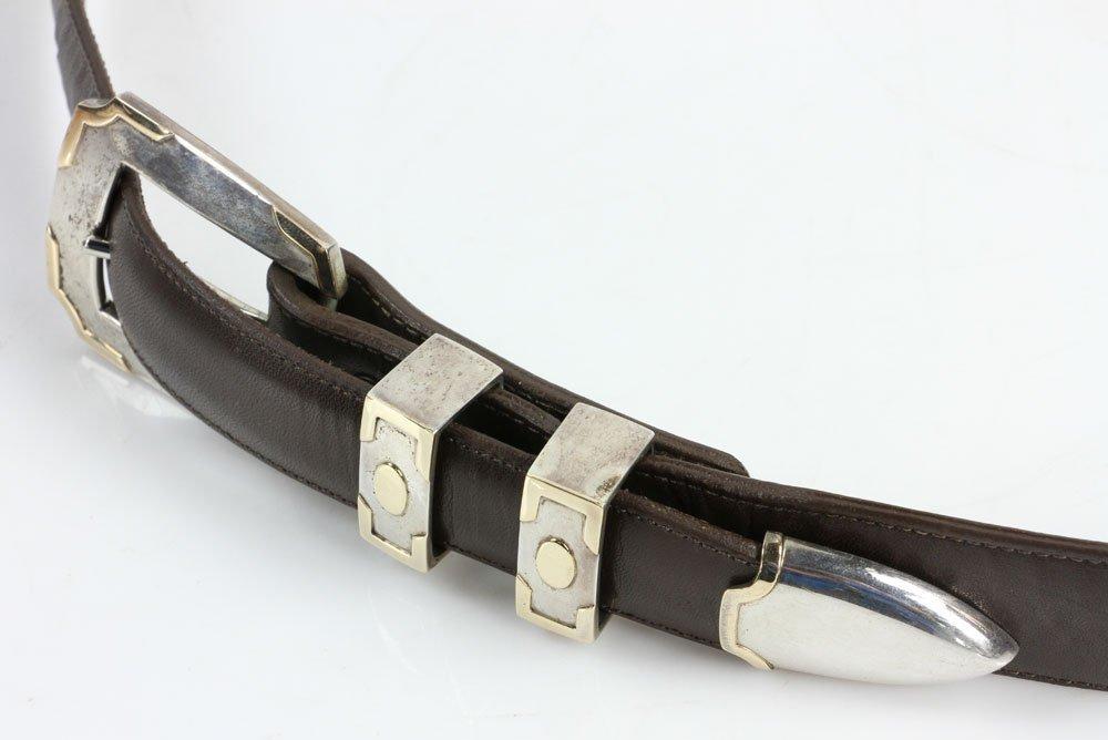 Sterling and 14K Gold Men's Belt - 3