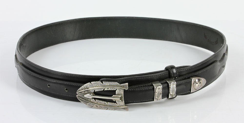 Sterling and Leather Men's Belt