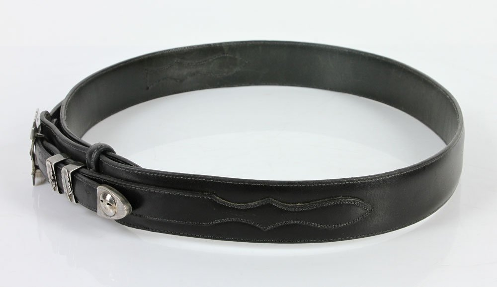 Sterling and Leather Men's Belt - 4