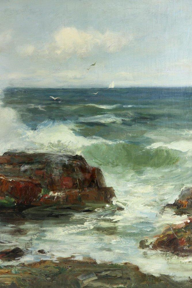 "C. Gruppe, ""Bass Rocks,"" Oil on Canvas - 4"