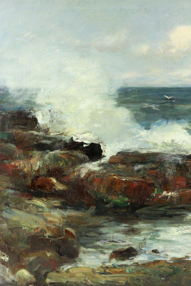 "C. Gruppe, ""Bass Rocks,"" Oil on Canvas - 5"