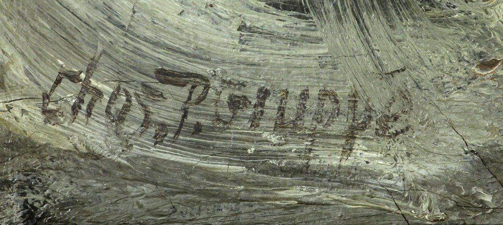 "C. Gruppe, ""Bass Rocks,"" Oil on Canvas - 7"