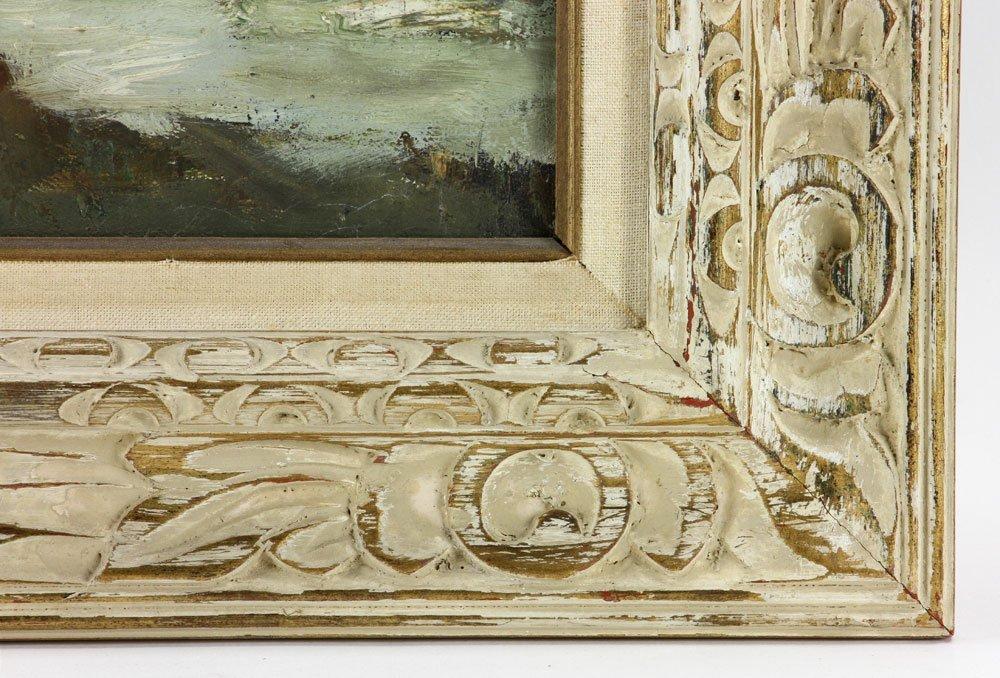 "C. Gruppe, ""Bass Rocks,"" Oil on Canvas - 8"