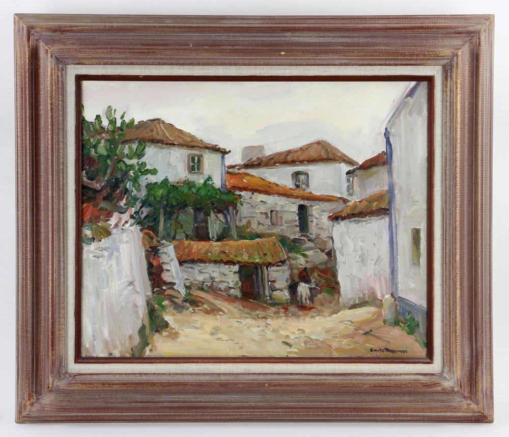 "E. Gruppe, ""Carvoeiro, Portugal,"" Oil on Canvas"