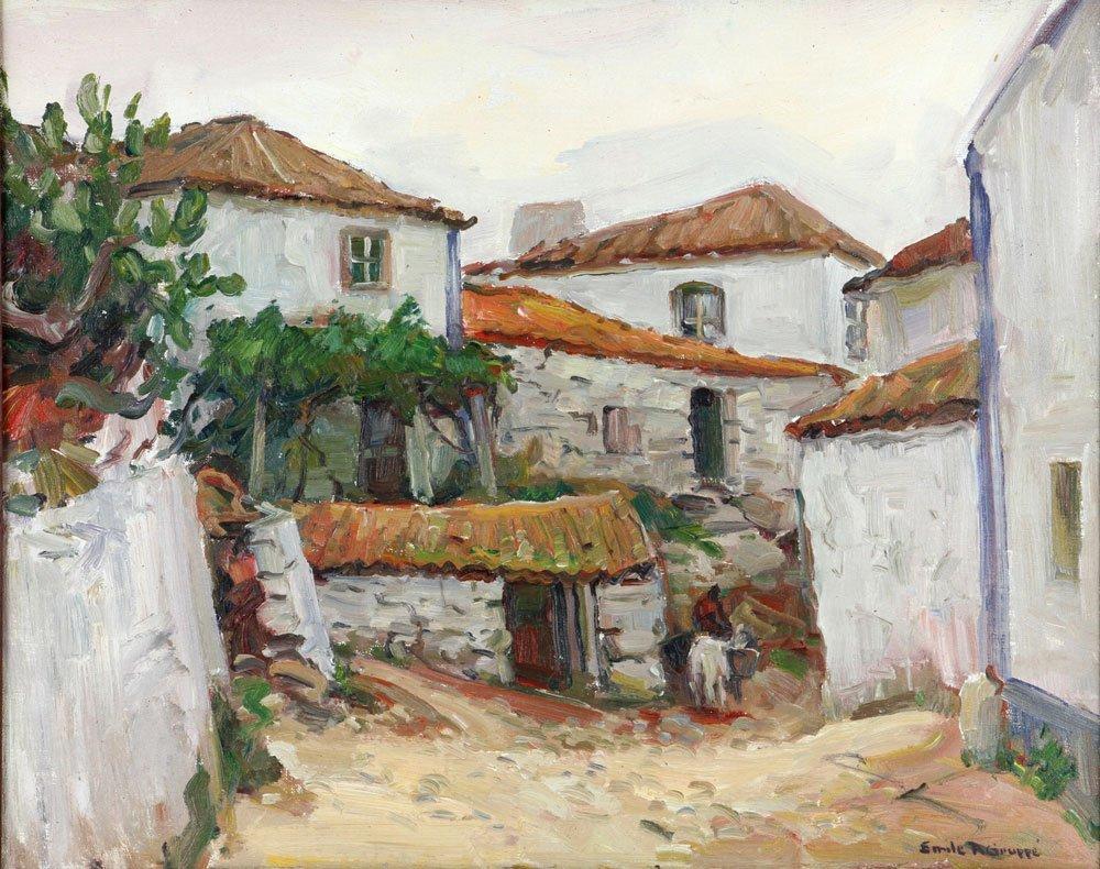 "E. Gruppe, ""Carvoeiro, Portugal,"" Oil on Canvas - 2"