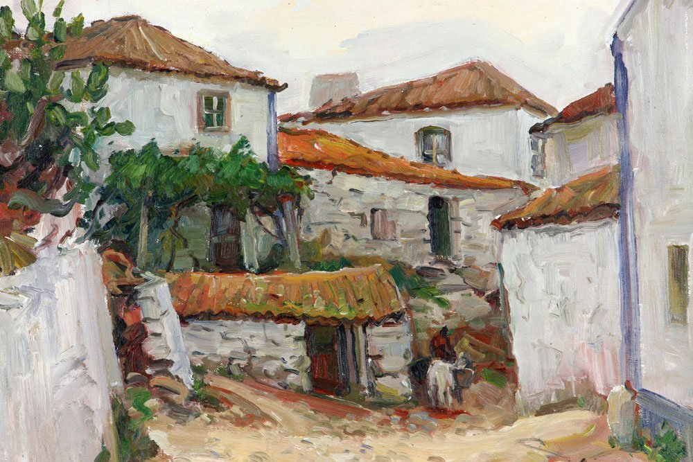 "E. Gruppe, ""Carvoeiro, Portugal,"" Oil on Canvas - 3"